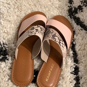 ✨ 9 1/2 light pink and snake skin print sandals ✨